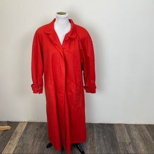 London Fog Red Trench Coat
